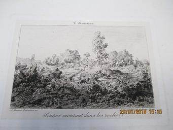 Sentier montant dans les rochers : [estampe] / T. Rousseau | Rousseau, Etienne-Pierre Théodore (1812-1867) - peintre paysagiste, graveur et dessinateur. Artiste