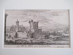 La Ville de Moret pres de Fontainebleau : [estampe, vue] / Israël excudit | Silvestre, Israël (1621-1691). Artiste. Graveur