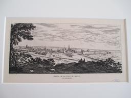 Profil de la ville de Melun (au XVII siècle) : [estampe, vue] / Israel Silvestre del. | Silvestre, Israël (1621-1691). Graveur sur métal