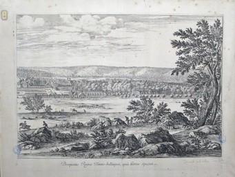 Prospectus Regiae Fontis-bellaquei, quà hortos spectat : [estampe, vue] / [Israël Silvestre] | Silvestre, Israël. Artiste. Graveur