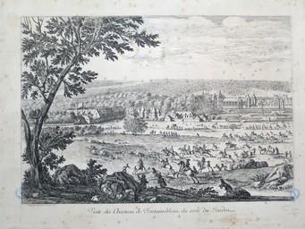 Veüe du Chasteau de Fontainebleau, du costé du Jardin : [estampe, vue] / Israël Silvestre delin. et sculpsit | Silvestre, Israël. Artiste. Graveur