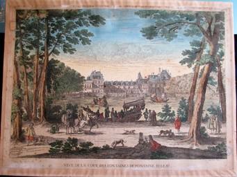 Veue de la cour des fontaines de Fontaine beleau : [estampe, vue] / Israël Silvestre delineavit [1666] | Silvestre, Israël. Artiste