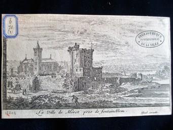 La Ville de Moret pres de Fontainebleau : [estampe, vue] / Israël excudit | Silvestre, Israël. Artiste. Graveur