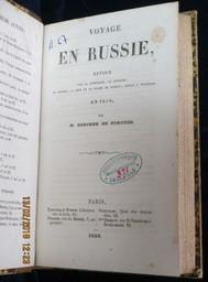 Voyage en Russie. Retour par la Lithuanie, la Pologne, la Silésie, la Saxe et le duché de Nassau; séjour à Wisebade, en 1856 / par M. Boucher de Perthes   Boucher de Perthes, Jacques (1788-1868). Auteur