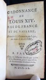 Ordonnance de Louis XIV, Roi de France et de Navarre, donnée à Saint-Germain-en-Laye, au mois d'avril 1667 | Louis XIV  (1638-1715) - roi de France . Auteur