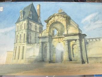 [Porte du Baptistère au Palais de Fontainebleau] : [estampe] / [Anonyme] | [Anonyme]. Artiste