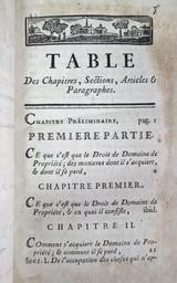 Traité du droit de domaine de propriété, Par l'Auteur du Traité des Obligations. Tome premier | Pothier, Robert-Joseph (1699-1772). Auteur