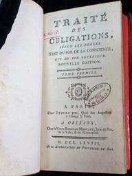 Traité des obligations selon les règles tant du for de la conscience, que du for extérieur. Nouvelle édition. Tome premier [-second] | Pothier, Robert-Joseph (1699-1772). Auteur
