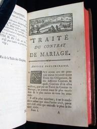Traité du contrat de mariage, par l'auteur du Traité des obligations [Pothier]. Tome premier [-second] | Pothier, Robert-Joseph (1699-1772). Auteur