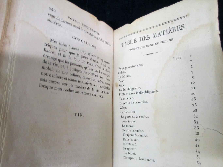[Laurence Sterne. Voyage sentimental en France et en Italie, traduction... par Alfred Hédouin...] | Sterne, Laurence (1713-1768). Auteur