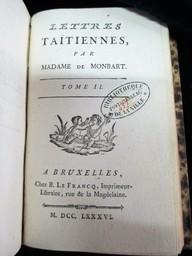 Lettres taïtiennes , par Madame de Monbart | Monbart, Joséphine de (1750-1829). Auteur