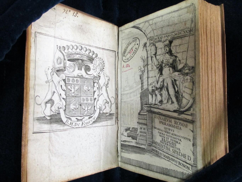 Ruinarum Romae epigrammata quibus miranda urbis agnoscuntur sacra visitantur nova et vetera elogiis recensentur eminentiss. Spadae D. Andreas Marianus Bonon. | Mariani, Andrea (1593-1661). Auteur