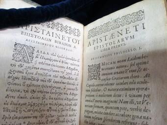ΑΡΙΣΤΑΙΝΕΤΟΥ ΕΠΙΣΤΟΛΑΙ. Arisṫæneti epistolæ græcæ. Cum latina interpretatione & notis. Altera edition emendatior & auctior. | Aristénète (05..-05..). Auteur