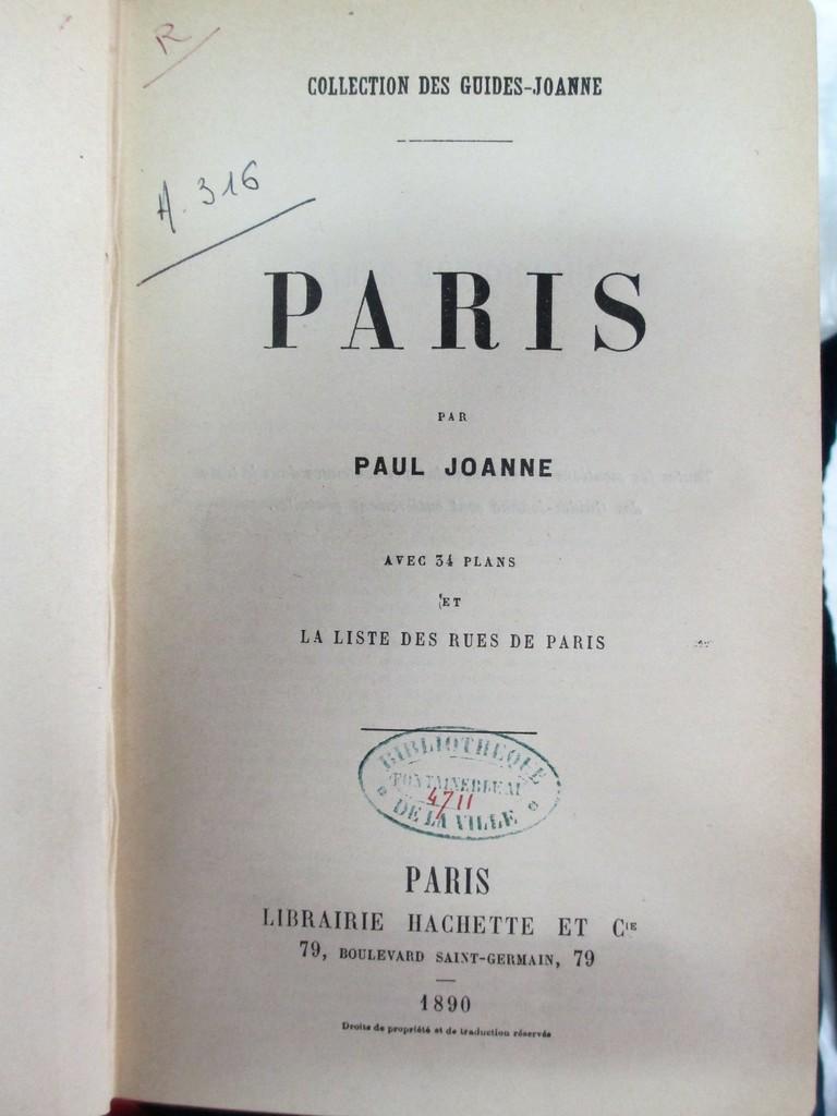 Paris, par Paul Joanne. Avec 34 plans et la liste des rues de Paris | Joanne, Paul (1847-1922). Auteur