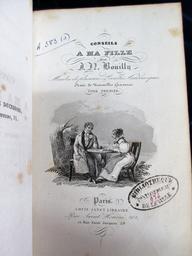 Conseils à ma fille, par J. N. Bouilly,...Ornés de nouvelles gravures. Tome premier [-second] | Bouilly, Jean-Nicolas (1763-1842). Auteur