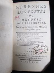 Etrennes des poëtes ou Recueil de pièces de vers extrait de plus de deux cents manuscrits du dix-septième siècle | Martial (0040?-0104?). Auteur