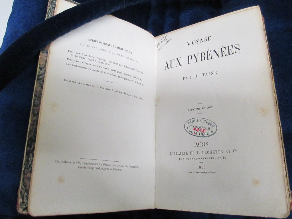 Voyage aux Pyrénées / par H. Taine | Taine, Hippolyte Adolphe (1828-1893). Auteur