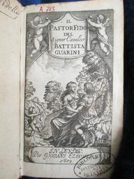Il Pastor fido, del signor cavalier Battista Guarini | Guarini, Battista (1538-1612). Auteur