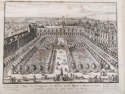 Veue de l'Orangerie ou Iardin de la Reine à Fontaine-bleau : [estampe] / [Israël Silvestre] | Silvestre, Israël (1621-1691). Graveur