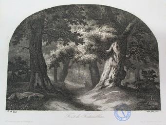 Forêt de Fontainebleau. Aqua forti 1847 : [estampe] / A. de Bar | Bar, Alexandre de (1821 - 1906). Graveur