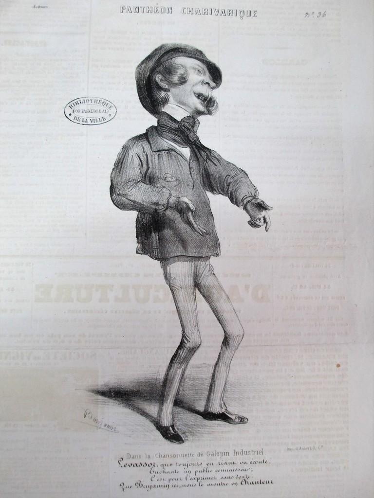 Dans la Chansonnette du Galopin Industriel : [estampe] / Benjamin  | Roubaud, Benjamin. Artiste. Lithographe