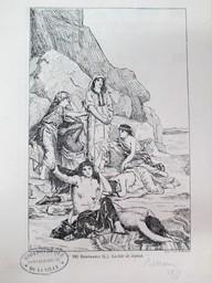 La fille de Jephté : [estampe, reprod.] / Lucien Berthault. 1879   Berthault, Claude Alexandre Lucien (1854 - 1921). Graveur