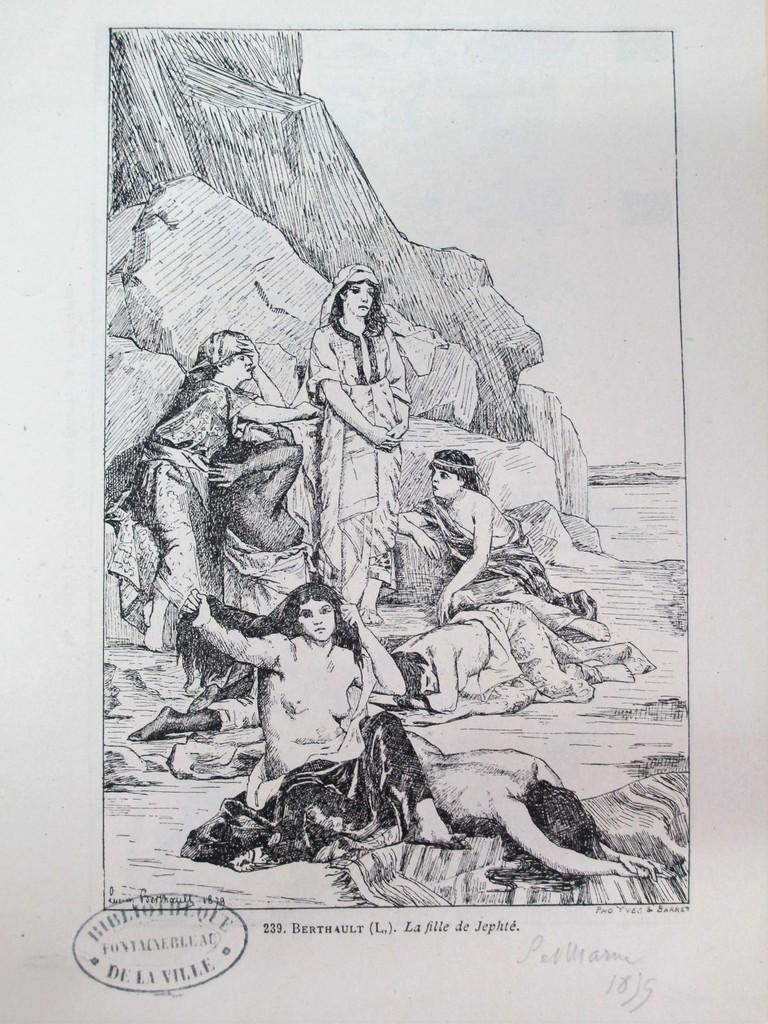La fille de Jephté : [estampe, reprod.] / Lucien Berthault. 1879 | Berthault, Claude Alexandre Lucien (1854 - 1921). Graveur
