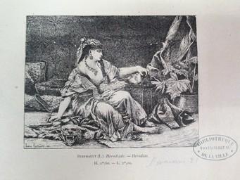 Hérodiade : [estampe] = Herodias / Lucien Berthault. 1881   Berthault, Claude Alexandre Lucien (1854 - 1921). Graveur