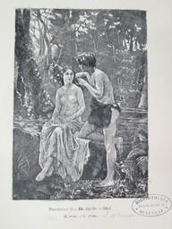 Idylle = Idyl : [estampe] / Lucien Berthault | Berthault, Lucien (1854-1921). Graveur