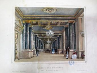 Galerie des Colonnes. Salle à manger du roi : [estampe] / Dessiné d'après nature et lithographie par Ph. Benoist.    Benoist, Philippe (1813 - 1905). Artiste. Lithographe