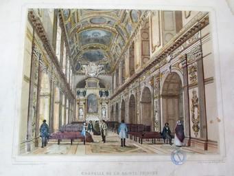 Chapelle de la Sainte Trinité : [estampe] / Dessiné d'après nature et lithographié par Ph. Benoist   Benoist, Philippe (1813 - 1905). Artiste. Lithographe