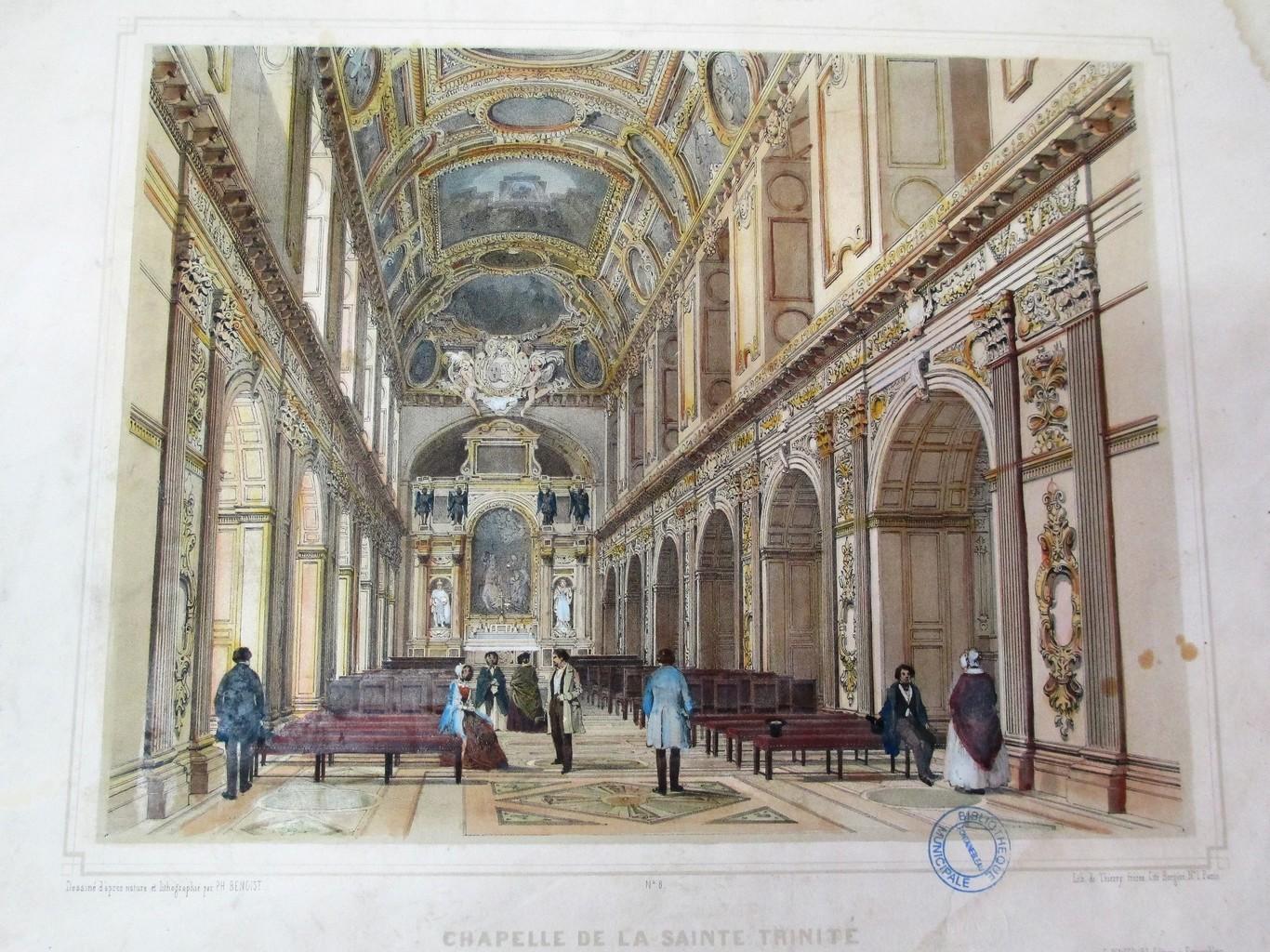 Chapelle de la Sainte Trinité : [estampe] / Dessiné d'après nature et lithographié par Ph. Benoist | Benoist, Philippe (1813 - 1905). Artiste. Lithographe