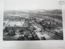 Environs de Paris. Vue générale de Fontainebleau. Vue prise au dessus de la Barrière de l'Obélisque : [estampe] / Dessiné par C. Fichot | Fichot, Michel-Charles (1817-1903). Artiste