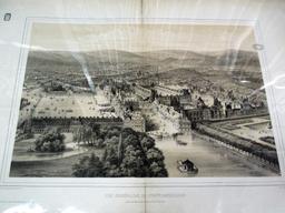 Vue générale de Fontainebleau prise au dessus de la Barrière de l'Obélisque : [estampe] / dessiné d'après nature et lith. par Fichot | Fichot, Michel-Charles (1817-1903). Artiste. Lithographe