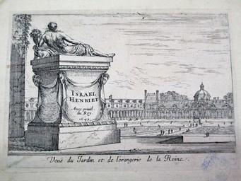 Veuë du Jardin et de l'orangerie de la Reine. : [estampe] : Avec Privil. du Roy. 1649 / Israël Henriet. | Henriet, Israël. Graveur