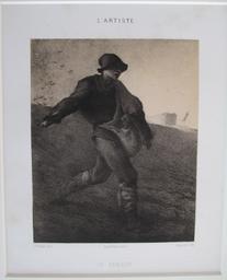 Le Semeur : [estampe] / J.-F. Millet pinx. | Millet, Jean François (1814-1875). Artiste
