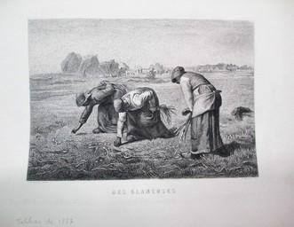 Des Glaneuses : [estampe] / J.-F. Millet, pinxt. | Millet, Jean-François. Artiste
