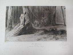 Les Bûcherons : [estampe] : Collection de M. Henri Rouart / J. F. Millet | Millet, Jean François (1814-1875). Artiste