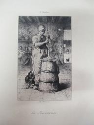 La Baratteuse : [estampe] / F. Millet | Millet, Jean François (1814-1875). Artiste